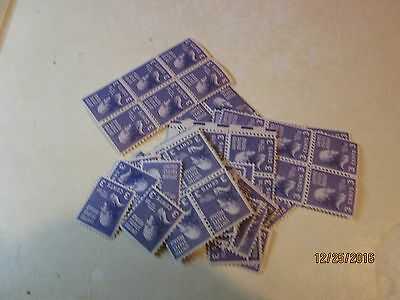 JAN32  #807 NH 1938 3 cent Jefferson - lot of aprox 70