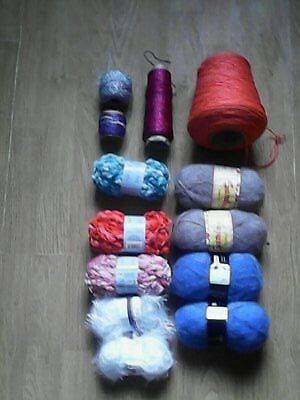 Bundle of wool and thread