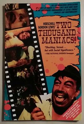 TWO THOUSAND MANIACS rare 1988 Movie Tie-in paperback out of print
