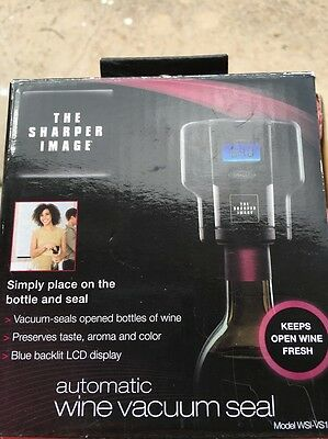 The Sharper Image Automatic Wine Vacuum Seal