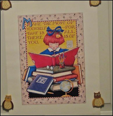 Mary Engelbreit ME Vintage Poster Print 1996 MAKE THE MOST OF YOURSELF 16 x 20