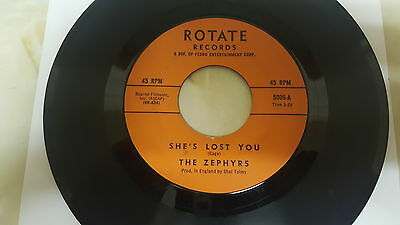 """THE ZEPHYRS She's Lost You ~  Rare 1965 """"7 VINYL ~  MOD FREAKBEAT"""