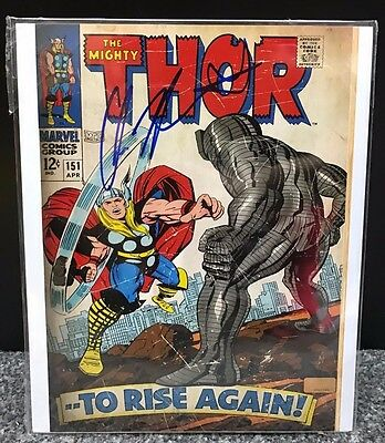 The Mighty Thor Chris Hemsworth Signed Autographed Comic No151 Photo +Coa Marvel