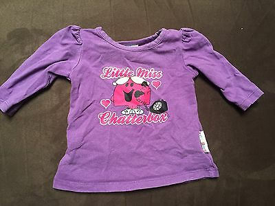 Little Miss Chatterbox Size 000 Long Sleeved Top