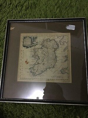 Scarce 200 year old map Ireland from the Best Authorities Beft Circa 1800 Framed