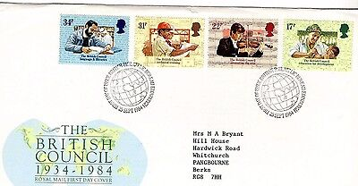 1984 British Council - Bureau Hand Stamp Fdc From Collection 7C/14