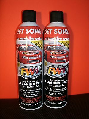 2 CANS FW1 Detail Cleaner / Waterless Wax / Racng  Wax
