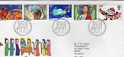 1981 Christmas - Bureau Hand Stamp Fdc From Collection 7C/15