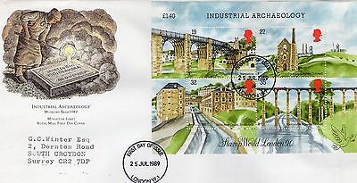 1989 Industrial Archaeology Booklet Pane Fdc From Collection 7C/16