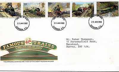 1985 Famous Trains Fdc From Collection 7C/23