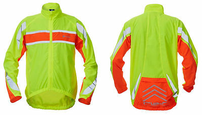 Polaris RBS Hi Viz Reflective Cycling Jacket - Size Small Genuine with Labels