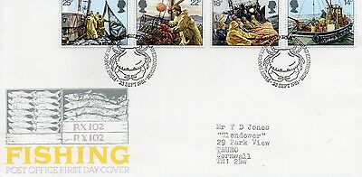 1981 Fishing - Bureau H/stamp Fdc From Collection 7C/29