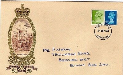 1975 Windsor Castle New Definitives Fdc From Collection 2/01