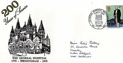 1979 General Hospital Birmingham 200 Years Of Service Fdc From Collection 2/11