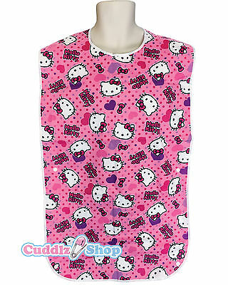 Cuddlz Pink Kitty Cat Cuddlz Reversable Adult Baby Bib Extra Large ABDL