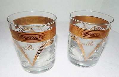 2 NEW 22Kt Gold Trimmed BELLAGIO CASINO Glasses