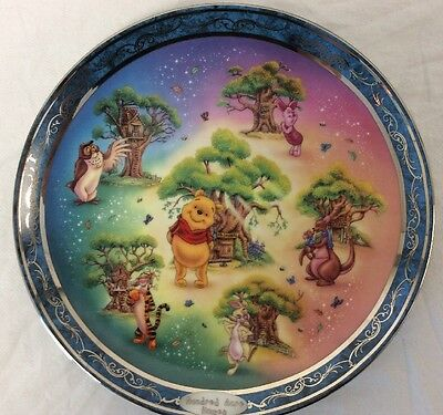 Winnie The Pooh Porcelain Decorative Plate Hundred Acre Homes Happiness Third