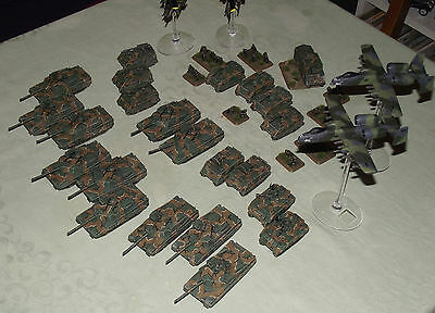 Large Well Painted 15mm Flames of War Team Yankee Army