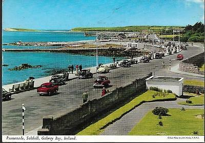 Galway City - Promenade, Salthill, old cars -classic John Hinde postcard (2/180)