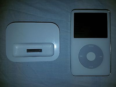 Apple iPod Classic 5th Generation White 60GB Used A1136