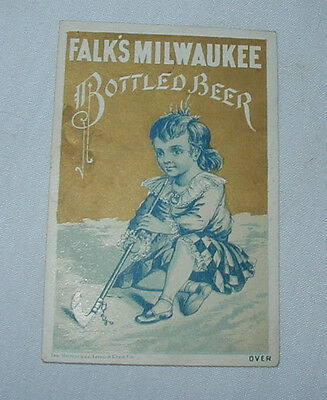 FALK'S Lager Beer Brewery TRADE CARD Advertising Premium Milwaukee WI no. 3