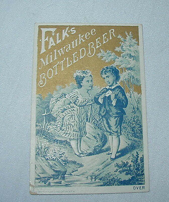FALK'S Lager Beer Brewery TRADE CARD Advertising Premium Milwaukee WI no.4