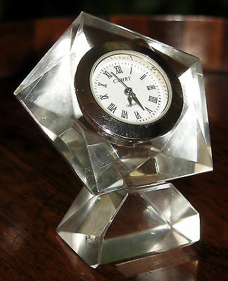 Vintage : A cut crystal glass Timepiece - with Free extra battery