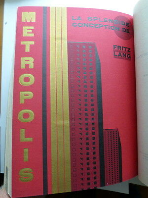 Metropolis poster within the book L'imprimerie et le Pensee Moderne 1928