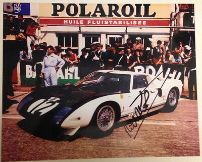 Signed Richard Attwood Ford GT40 Le Mans 1964