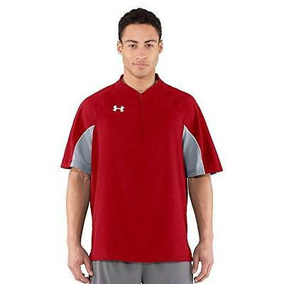 Under Armour Ua Ultimate Cage Short Sleeve Red Batting Jacket Men Size Small Nwt