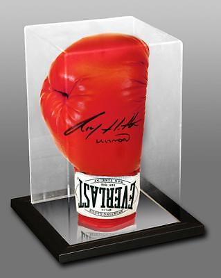 Signed Ricky Hatton Everlast  Boxing Glove in Acrylic Case Proof   COA