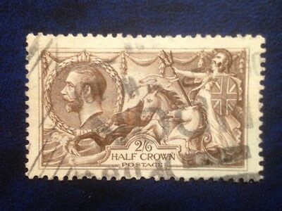 Stamps Great Britain Sc179 (A91) 2sh 6d Seahorses  horizontal lines rare used