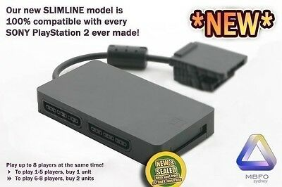 PS2 Multitap (NEW, AUS STANDARD) for Sony Playstation 2 Multi Player Adapter Tap