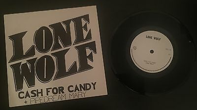 """Lone Wolf Cash For Candy Uk 7"""" Vinyl - Rare 1980 1St Press Nwobhm"""