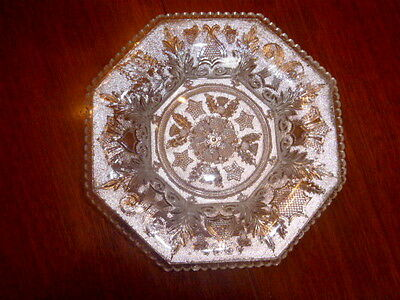Boston & Sandwich Glass Co.  ~ Antique Lacy Period Bowl ~ Beehive & Thistle