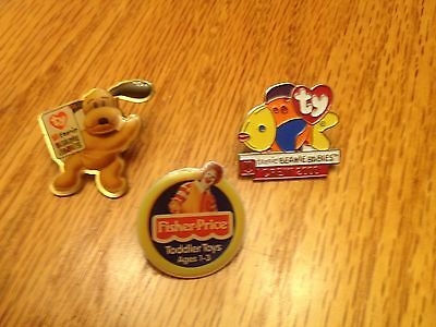 McDonald's ty and Fisher Price Collector Pins