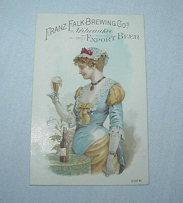 FALK'S Lager Beer Brewery TRADE CARD Advertising Premium Milwaukee WI No.10