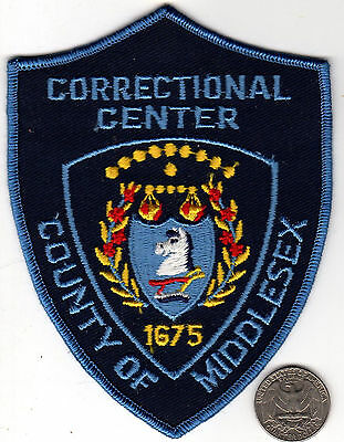 MIDDLESEX COUNTY CORRECTION POLICE PATCH State of New Jersey Crest Cloth Shield
