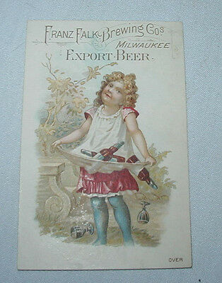 FALK'S Lager Beer Brewery TRADE CARD Advertising Premium Milwaukee WI No.8