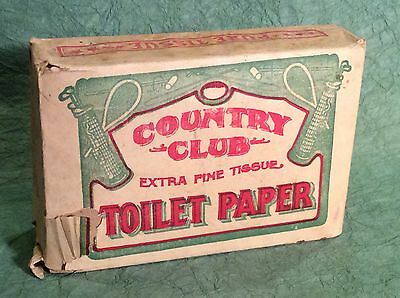 Rare Antique Golf Toilet Paper Original Packaging With Golf Clubs Stove Pipe Bag