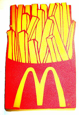 Vintage McDonalds French Fry Foam Fan Finger Ronald Toy Meal Happy Gift Card Ofr