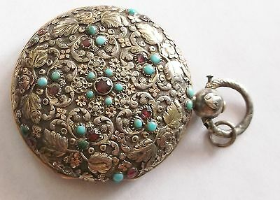 Antique Austro-Hungargian Extremely Decorative Silver Watch Case