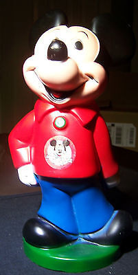 Mickey Mouse Club Coin Bank w/ Stopper Walt Disney By Play Pal Plastics 11""
