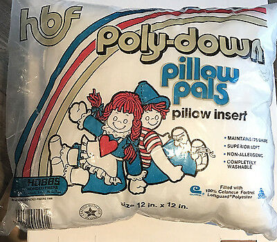 Hobbs Poly-down Pillow Pals Insert 12 x 12 Polyester Stuffing 1986 Washable