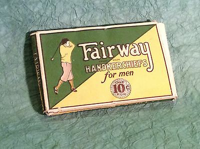 Rare Antique Golf Handkerchiefs Original Packaging With Golfer In Nickers