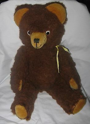 """Vintage 18"""" German Schuco Fully Jointed Teddy Bear Plush"""