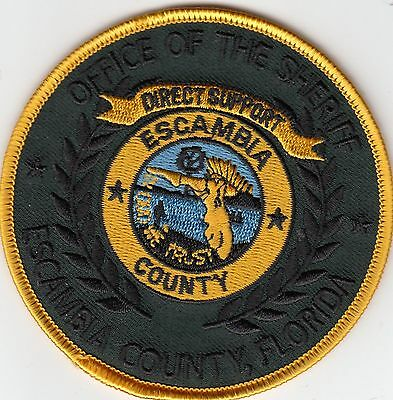 "Escambia County Office Of The Sheriff ""direct Support"" Florida Fl Police Patch"