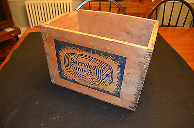 Vintage Wooden Shipping Crate Container Great Graphics