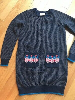 Hanna Andersson 130 Girls Sweater Dress. Size 8-10