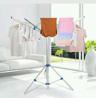 Portable Clothes Rack Tripod Camping Dryer Airer Foldable Folding Clothesline